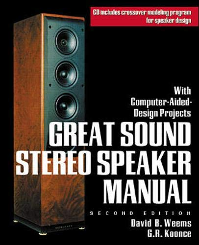 Great Sound Stereo Speaker Manual  With Computer Aided Design Projects  TAB Electronics