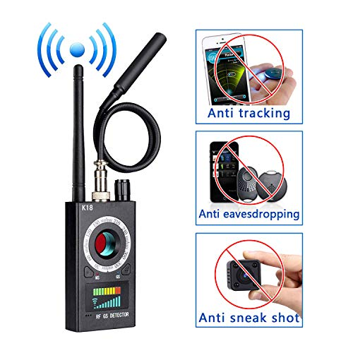 Anti Spy Detector, RF Detector & Camera Finder, Bug Detector, Upgraded RF Signal Detector, KORKUAN GSM Tracking Device for Wireless Audio Bug Hidden Camera Detector