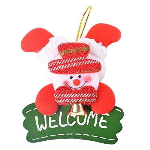 ts - Nhbr 1x Ornaments Hanging Plate Christmas Tree Door Decor 13x11cm Red Snowman - Isuzu Porcelain Engagement Dish Door Christmas Ornament Set Christma Injector ()