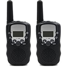 Walkie Talkies, Themoemoe 2pcs Kids Walkie Talkie Children Walky Talky Toys PMR446MHz 3 KM Range 0.5W 22Channels 2 Way Radio Battery Operated for Outdoor Camping Hiking Field Survival