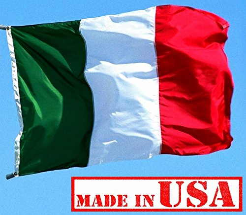 US Flag Factory 3'x5' Italy Italian Flag (Sewn Stripes) Outdoor SolarMax Nylon - Made in America