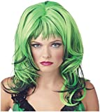 Morris Costumes Wig Hard Rockin Witch Bk Green
