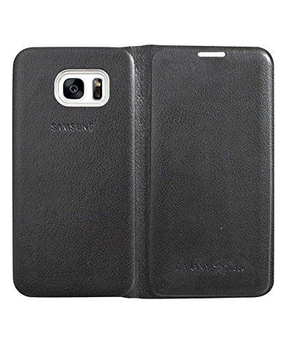 COVERNEW Flip Cover for Samsung Galaxy S7 Edge   Black 1LeatherFlipGalaxyS7edgeBlack