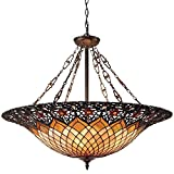 Quoizel TF1901VB Tiffany Bowl Foyer Pendant Lighting - 6-Light - 600 Watts - Vintage Bronze (28