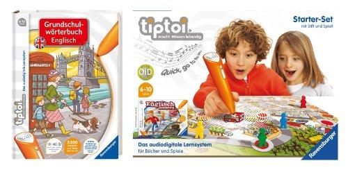 Tiptoi - Starterset mit Stift und Spiel und Tiptoi - Grundschulwörterbuch Englisch - Set - 9120055082651