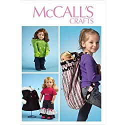 McCall Pattern Company M6854 Clothes for 18-Inch Doll, Accessories and Carrier Sewing Template, One Size