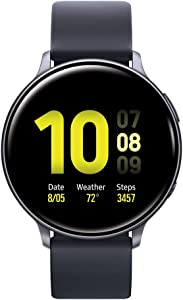 Samsung Galaxy Watch Active2 W/ Enhanced Sleep Tracking Analysis, Auto Workout Tracking, and Pace Coaching (44mm), Aqua Black (Renewed)