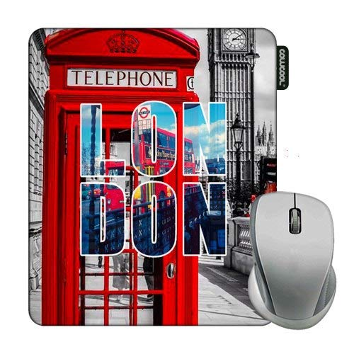 Cowcool London Mouse Pad London Street Telephone Booth Mouse Pads for Computers Laptop Gameing
