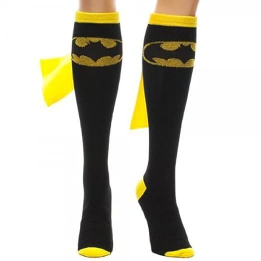 08e068718 Image Unavailable. Image not available for. Color  DC Comics BATGIRL -  Batman Logo Licensed Knee High Socks ...