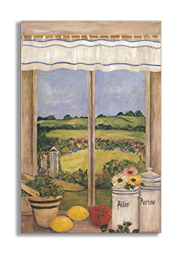 (Stupell Home Décor Decorative Faux Window Scene, Tuscan Kitchen, 22 x 0.5 x 33, Proudly Made in USA )