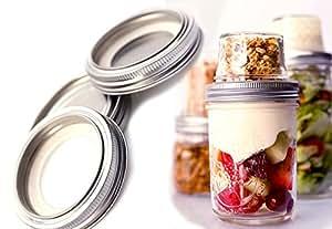 3 Pack - Mason to Go Lids: #Masonable Lids for Mason Jar Meals On The Go: