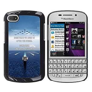 FlareStar Colour Printing I Love You Moon Text Sunset Beach Ocean cáscara Funda Case Caso de plástico para BlackBerry Q10