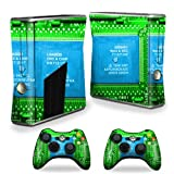 MightySkins Protective Vinyl Skin Decal Cover for Microsoft Xbox 360 S Slim + 2 Controller skins wrap sticker skins Circuit Board