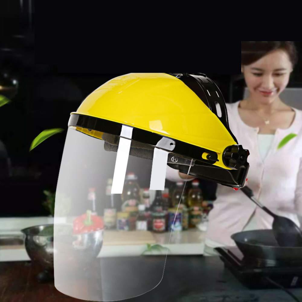 BOC Delantal Facial CZZ, máscara Transparente a Prueba de Humo, Salpicaduras de Aceite de Cocina, máscara de protección Facial, Soldadura eléctrica y Gorros a Prueba de Pol