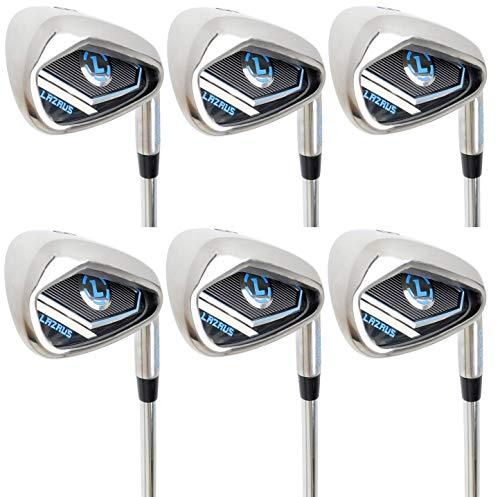(LAZRUS Premium Golf Irons Set for Men (4,5,6,7,8,9) Right Hand Steel Shaft Regular Flex Golf Clubs - Best Golf Iron Set - Great Golf Gift For Beginner Or intermediate)