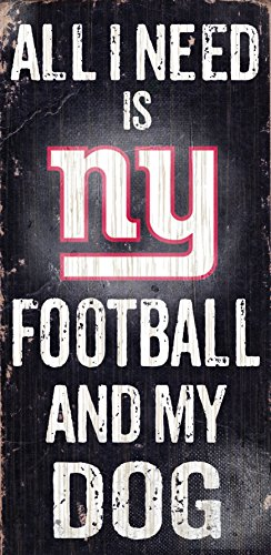Fan Creations Sign New York Giants Football and My Dog Multicolored -
