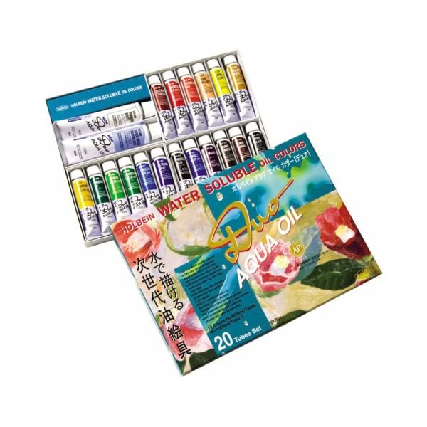 Holbein-Duo-Aqua-Water-Soluble-Oil-Color-Studio-Set-of-20-20-ml-Tubes