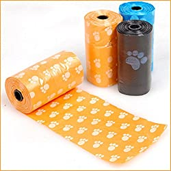 Pooper Scoopers & Bags - 3 Rolls 60pcs Dog Poop Bag Footprint Plastic Garbage Bags Cat Waste Pick Up El Home Clean Pooper - & Microfiber Dog Scooper Shit Garbage Grabber Scooper Accessory Pet