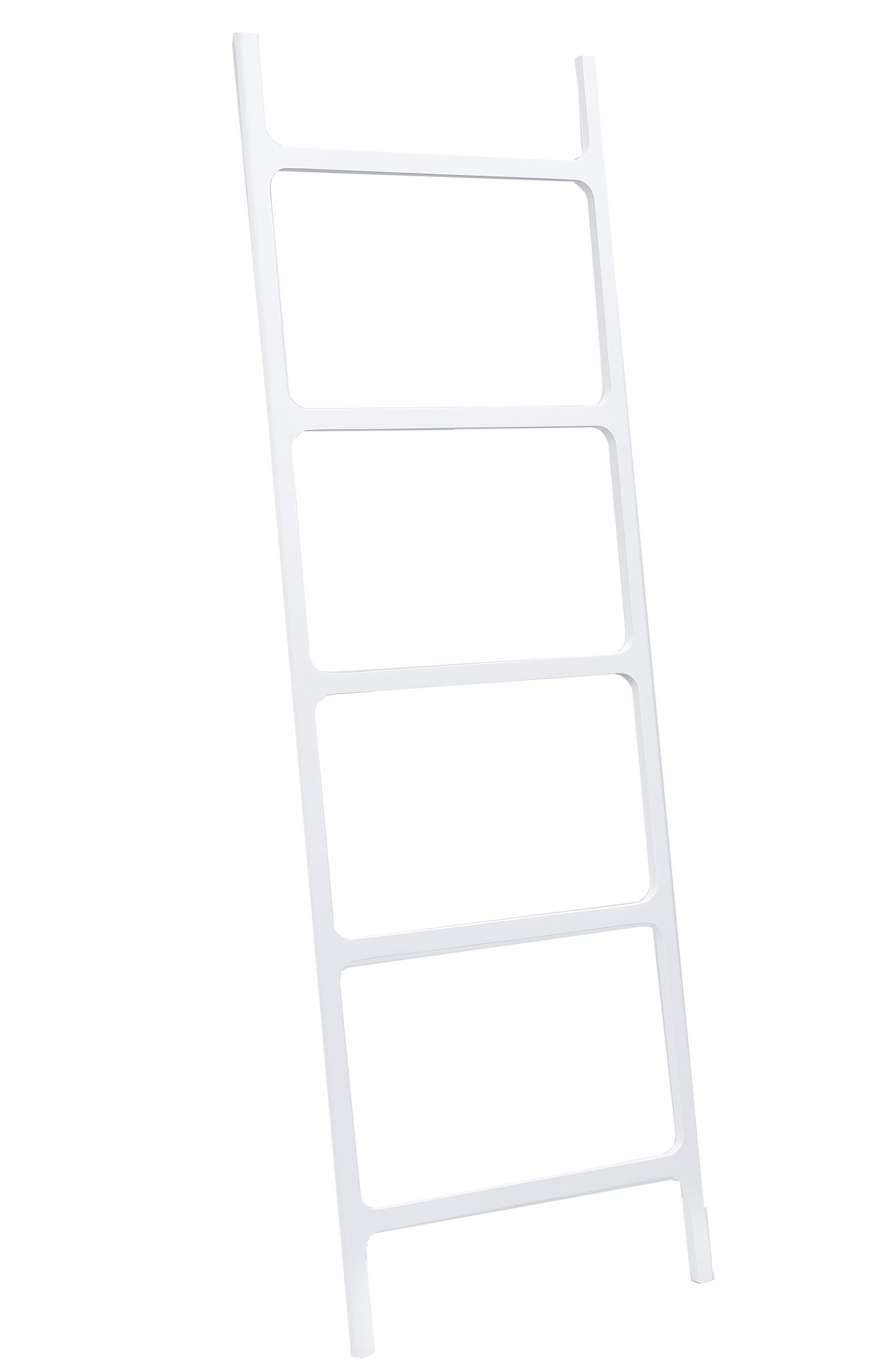 DWBA Stone Standing Towel Rack Ladder for Bathroom Spa Towel Hanger, White