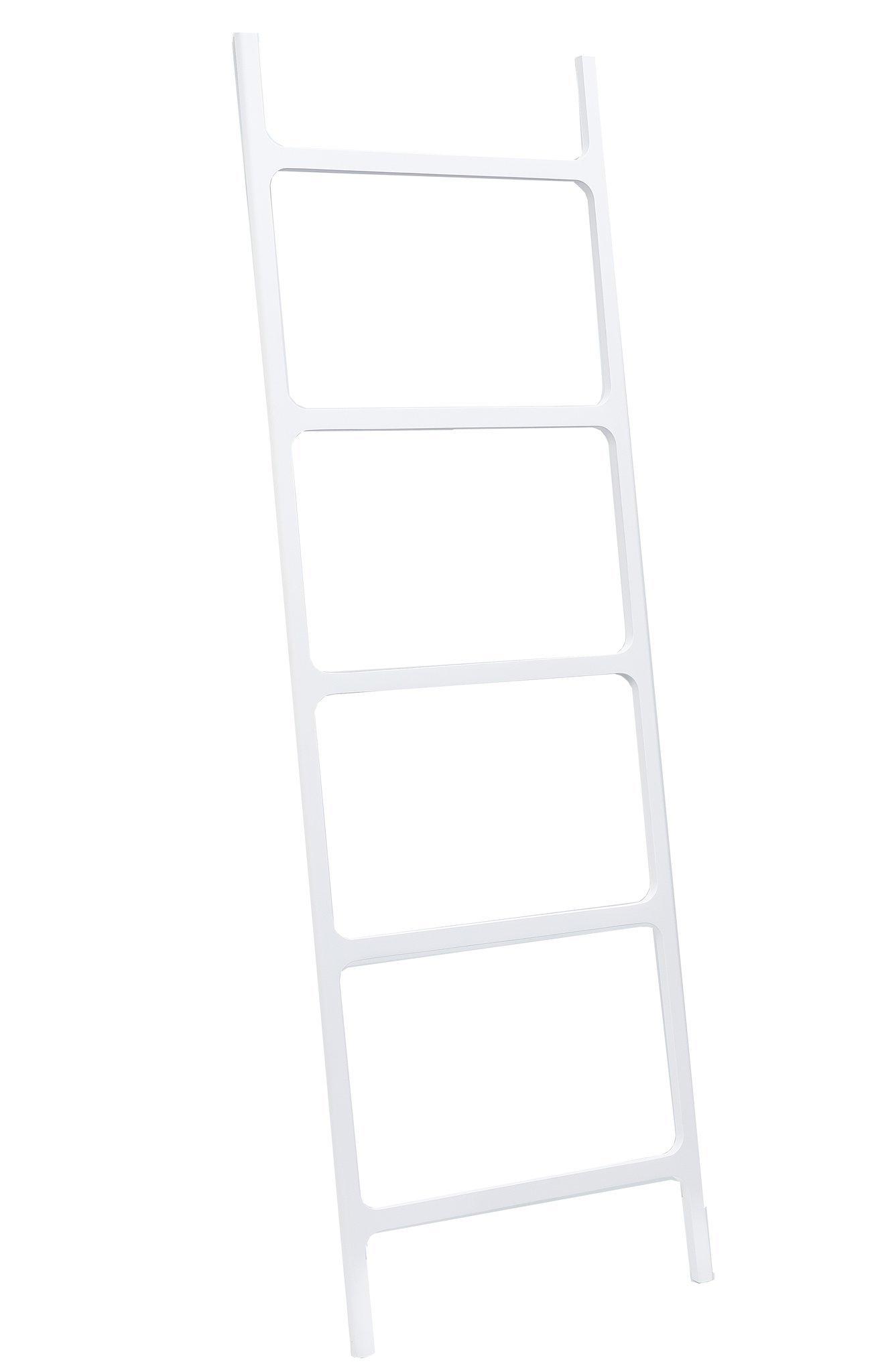 DWBA Stone Standing Towel Rack Ladder for Bathroom Spa Towel Hanger, White by DWBA Bath Collection (Image #1)