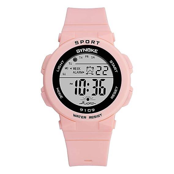 Cronómetro Despertador Deportivo Relojes Digital Colores Pulsera De Niños Luces Plastico Niñas Calendario Correa wXuiTOPkZ