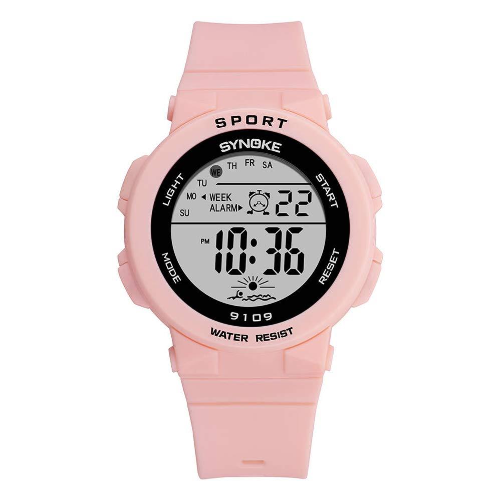 Reloj Para Dama Modelo Gatito Rosado Cambia de Color