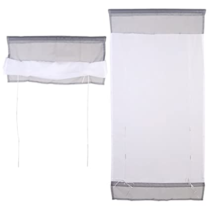 Amazon.com: 1 Pcs Liftable Voile Roman Shades Kitchen ...