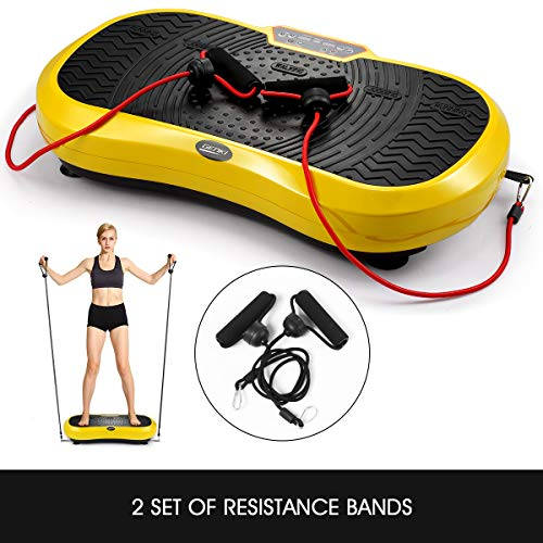 GENKI Fitness Vibration Platform Workout Machine Whole Full Body Shape Exercise Training Power Plate (Yellow) by GENKI (Image #6)