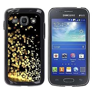 Be Good Phone Accessory // Dura Cáscara cubierta Protectora Caso Carcasa Funda de Protección para Samsung Galaxy Ace 3 GT-S7270 GT-S7275 GT-S7272 // Gold Glitter Black Reflective Bri