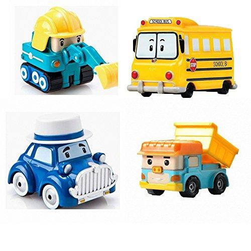 Robocar Poli Diecasting Set : Dump, Poke Musti School-B (Non-transformer)