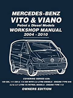 workshop service manual mercedes benz vito and v class cdi models rh amazon co uk Mercedes- Benz SL65 AMG How Many Seats Mercedes V220