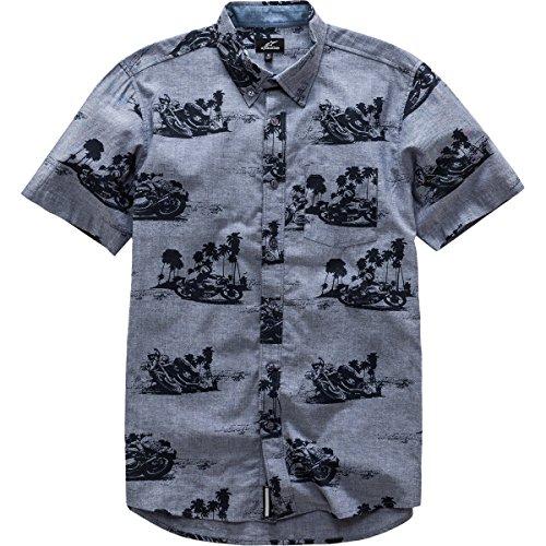 Alpinestars Mens Paradise Button Up Short-Sleeve Shirt Medium Blue