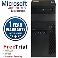 Lenovo M81 Business High Performance Tower Desktop Computer PC (Intel Core i3 2100 3.1G,8G RAM DDR3,2TB HDD,DVD-ROM,Windows 10 Professional)(Certified Refurbished)