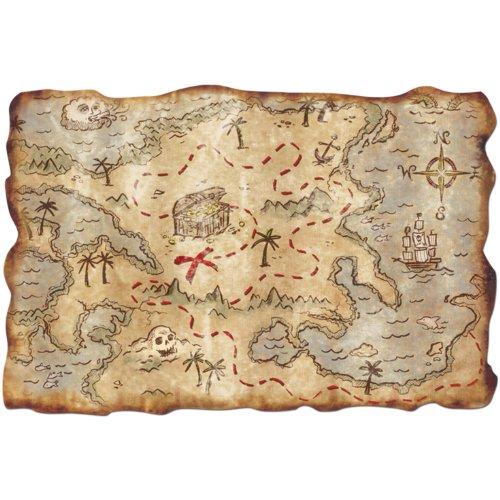 Plastic Treasure Map Party Accessory (1 count) (1/Pkg)]()