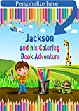 Customized Kids Coloring Book - Start Coloring and See the Adventure Unfold. Custom Made