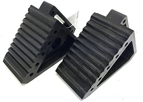 MaxxHaul 2 pack 70472 Solid Rubber Heavy Duty rv Black Wheel Chock