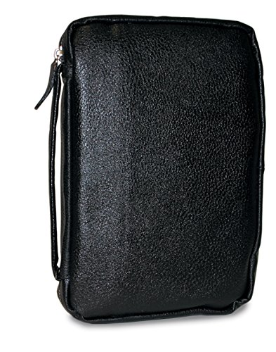 Divinity Boutique Bible Cover Leather Midnight Black, Compact (17358) - Leather Bible Cover Custom