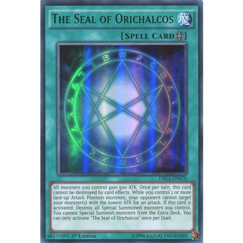 Deckboosters YuGiOh : DRL3-EN070 1st Ed The Seal of Orichalcos Ultra Rare Card - ( Yu-Gi-Oh! Single Card)