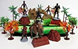 Cake Toppers Marvel Comic Super Hero Deluxe Black Panther Birthday Set Featuring Black Panther Figures and Decorative Themed Accessories