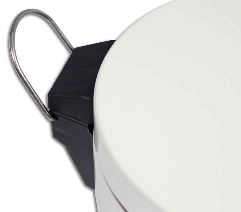 Vetrineinrete/® Pattumiera con Apertura Pedale Cestino gettacarte portarifiuti Nero o Bianco da casa Bagno G60 Bianco