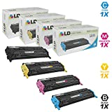 hp 1600 color laserjet printer - LD Remanufactured Replacement Laser Toner Cartridges for HP Color LaserJet 1600/2600: 1 Black Q6000A, 1 Cyan Q6001A, 1 Magenta Q6003A and 1 Yellow Q6002A