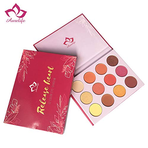 Eyeshadow Palette Matte Shimmer 12 Colors Eye Shadow Pallete Waterproof Powder Natural Pigmented Nude Naked Smokey Makeup Palette
