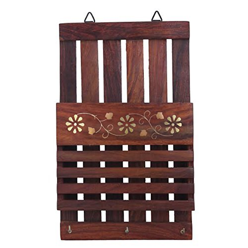 Craftsman Hook - Crafts'man Wooden Wall Hanging Letter Organiser/rack and Letter and Paper Holder mail box. letter mail organiser with key hooks and holder