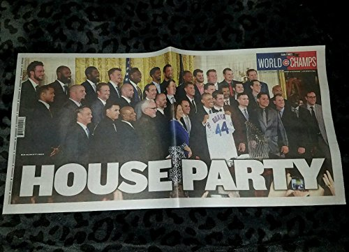 [Chicago Cubs World Series White House Visit with Barack Obama - Chicago Sun Times - HOUSE PARTY - 1/17/17 - Full Newspaper] (Chicago Cubs Paper)