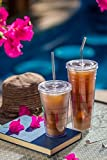 Glass Drinking Straw - Reusable and Eco Friendly - Made in the USA by Hummingbird Straws - All Sizes Short to Extra Long - Perfect For Smoothies, Coffee, Tea, Essential Oils - Dishwasher Safe