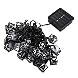 Solar Lights Letters Fairy Lights,30 LEDs 19 Ft Waterproof String Lights for Home,Christmas,Party by Businda - Warm White