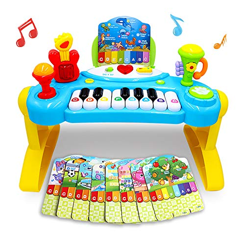 Mochoog Toy Piano for Toddlers, Piano for Kids with English Spanish Language Learning & Music Modes - Best Birthday Gifts for 2 3 4 5 Year Old Girls Boys - Educational Keyboard Musical Instrument Toys