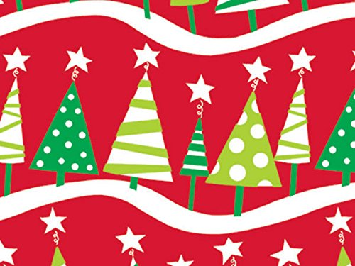 Christmas Tree Rock 24 inch x417 ft.Gift Wrap Half Ream Roll (1 unit, 1 pack per unit.)