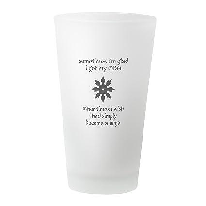 Amazon.com: CafePress Mbaninja Copy Pint Glass, 16 oz ...