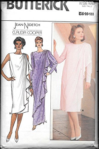 (Butterick 3328 Sewing Pattern - Sizes 14,16,18 - (Jean Nidetch, Claudia Cooper) UNCUT)